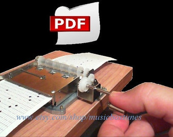 pdf: Twinkle Twinkle little star. Music box song. Digital Paper strip made for a 30 note music box mechanism. INSTANT downlad pdf.