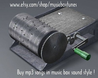 mp3 Lullaby: Are you sleeping?  Hand crank music box lullaby sound mp3. Traditional lullaby. Instant Download !
