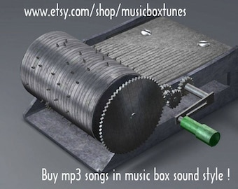 mp3 Lullaby: Dance To Your Daddy - hand crank music box lullaby mp3 sound. Traditional lullaby. Instant Download !