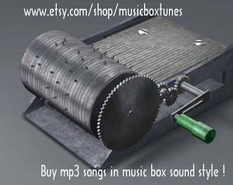 mp3 - Little night music, Mozart, hand crank music box classical mp3 tune. A nice gift idea to friends and loved ones. Instant Download !