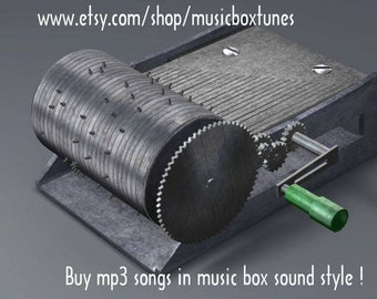 mp3 Lullaby: Day and night. Hand crank music box lullaby  sound. Traditional lullaby. Instant Download!