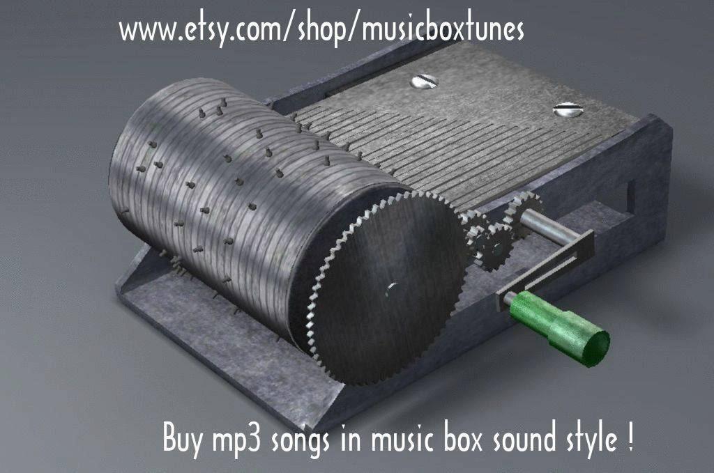 MP3-Stille Nacht Hand Kurbel Spieluhr Weihnachten Mp3 | Etsy