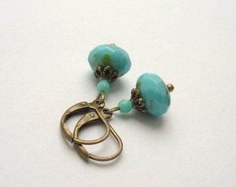 Earrings vintage style bronze