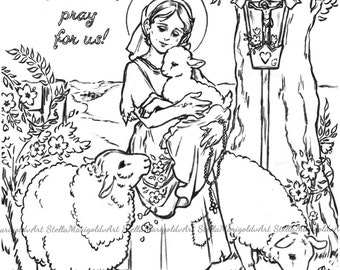 saint germaine cousin coloring page