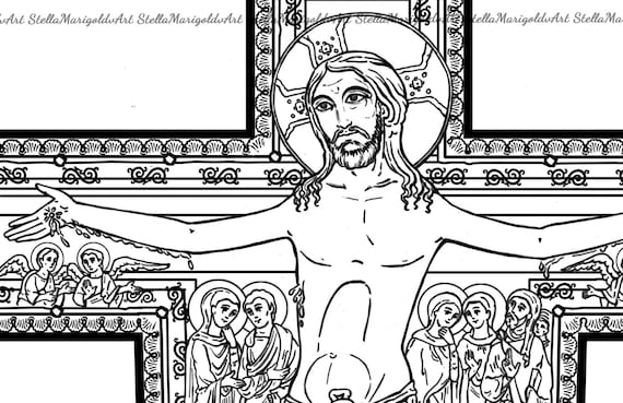 The Cross Of San Damiano Coloring Page And Workbook