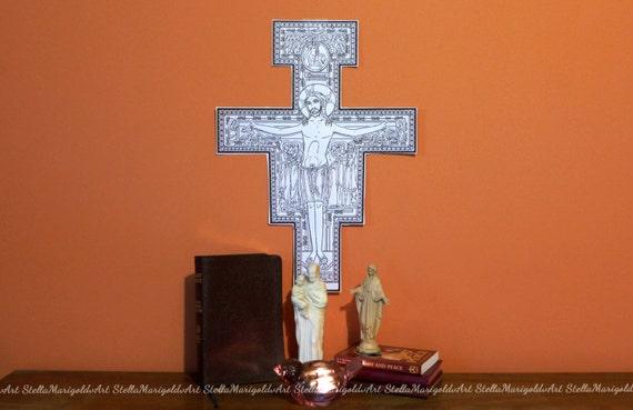 San Damiano Crucifix At St Francis Cathedral Editorial Photo - Image of  worship, crucifix: 168154631