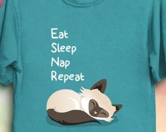 Cat Life Goals - Cat Funny Shirt Kawaii Cute adorable cats T-Shirt