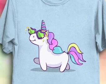 Fabulous Unicorn - Fantasy Unicorn Shirt, Kawaii Cute Animals T-Shirt
