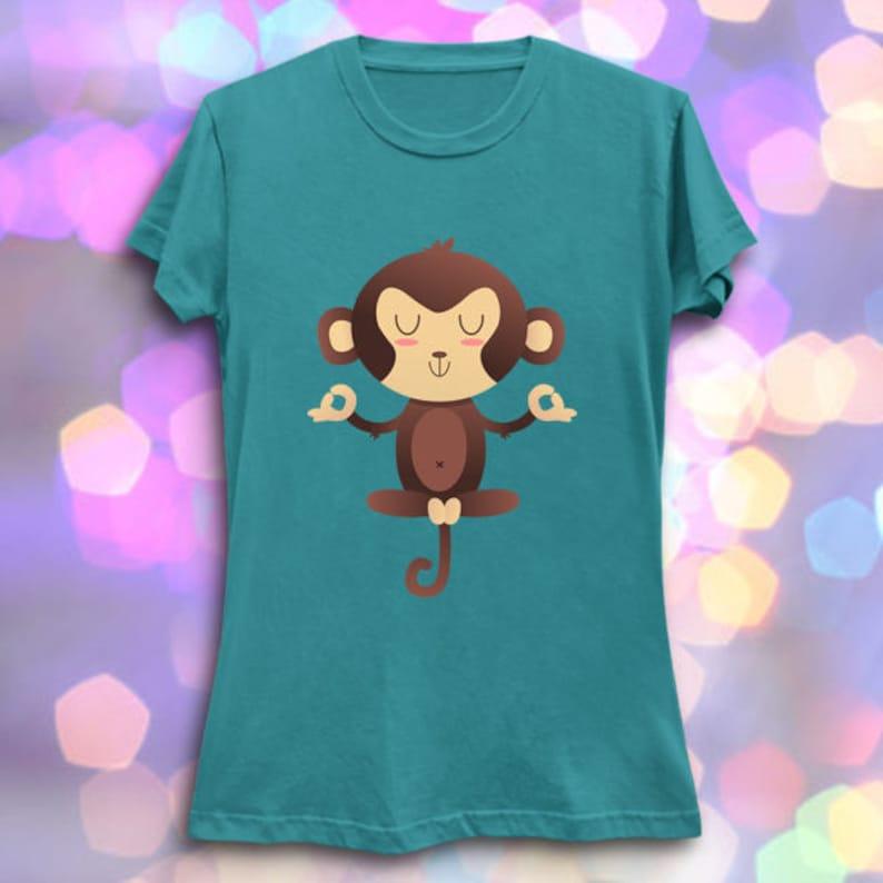 Chimpanzen Cute Animal Yoga Puns Kawaii T Shirt Etsy