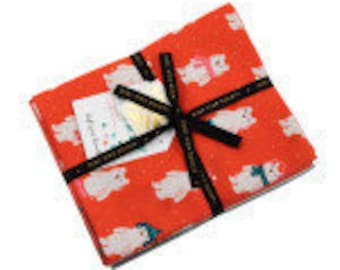 Flurry 15 skus 1/2 yard assortment, a collaborative holiday collection designed by Ruby Star Society