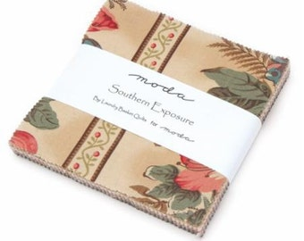 """Southern Exposure Charm Packs, 42 - 5"""" x 5"""" squares designed by Laundry Basket Quilts for Moda Fabrics"""