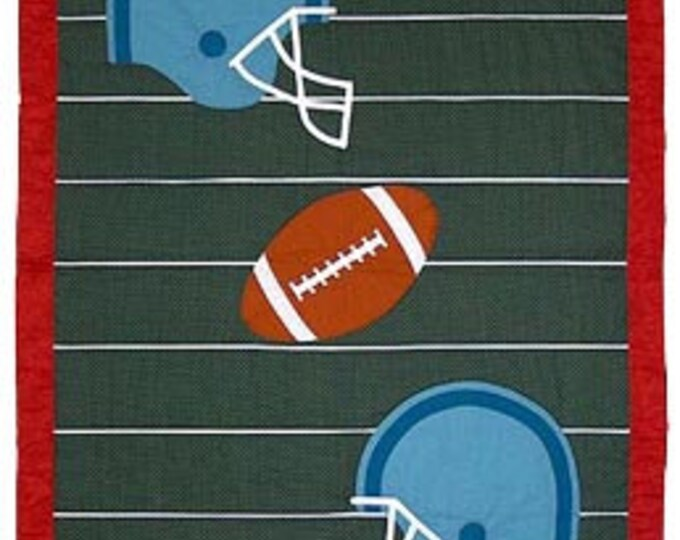 Football Twin, Crib or Wall Quilt Pattern, designed by Spring Creek NeedleArt