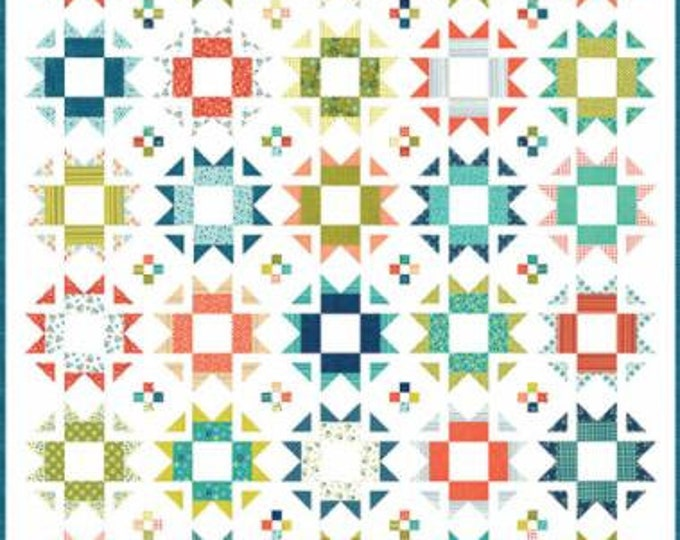 "Well Said Happy Quilt Kit designed by Sandy Gervais for Moda Fabrics, finished size 68"" x 81"""