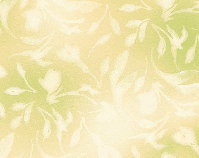 Paradise Beige Green designed by Maywood Studio, 100% Premium Cotton by the Yard