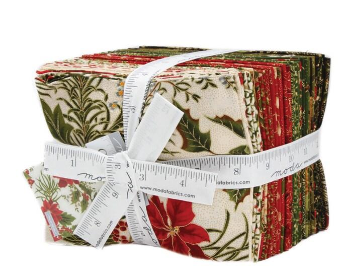 Gilded Greenery Metallic 26 Fat Quarter Bundle designed by Moda Fabrics, 100% Premium Cotton by the Yard