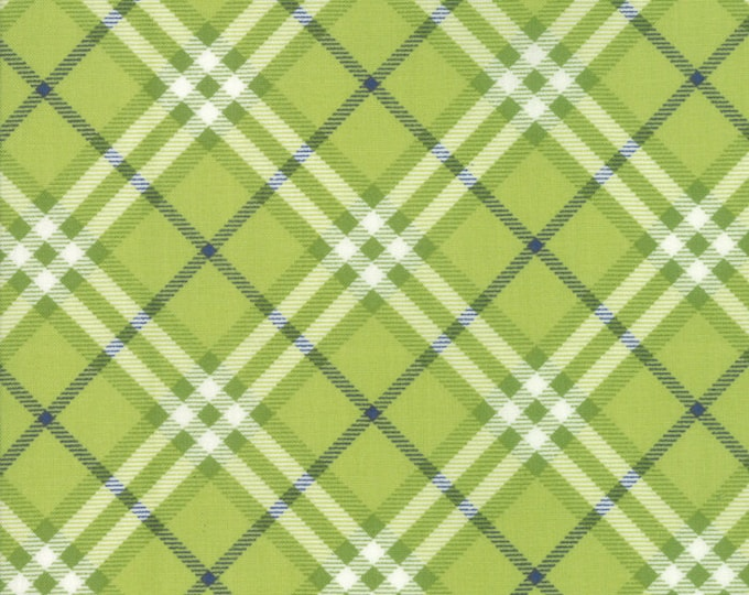 All Weather Friend Leaf Plaid designed by April Rosenthal of Prairie Grass Patterns for Moda Fabrics, 100% Premium Cotton by the Yard