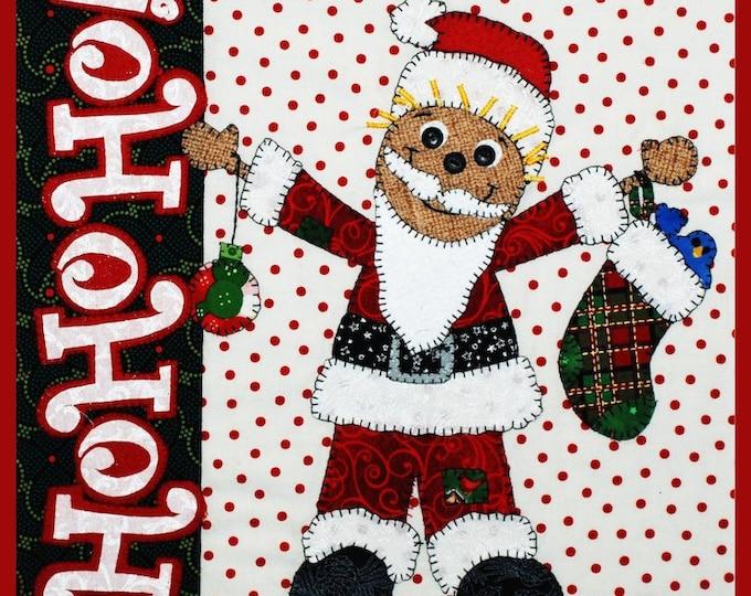 "HoHoHo Santa Pattern 12"" x 12"" designed by Desiree's Designs"