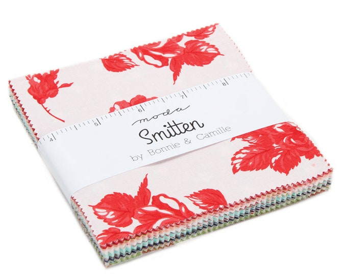 "Smitten Charm Packs (42 - 5"" x 5"" Squares) designed by Bonnie & Camille for Moda Fabrics"