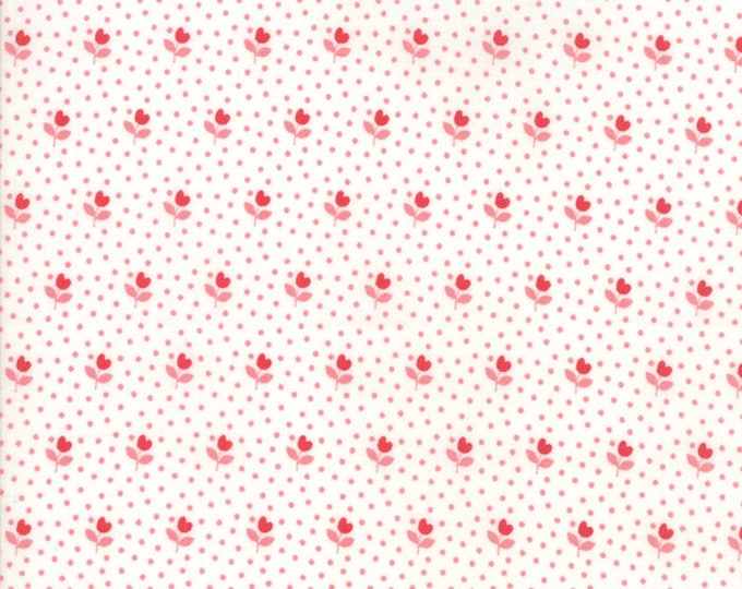 All Weather Friend Cloud Red designed by April Rosenthal of Prairie Grass Patterns for Moda Fabrics, 100% Premium Cotton by the Yard