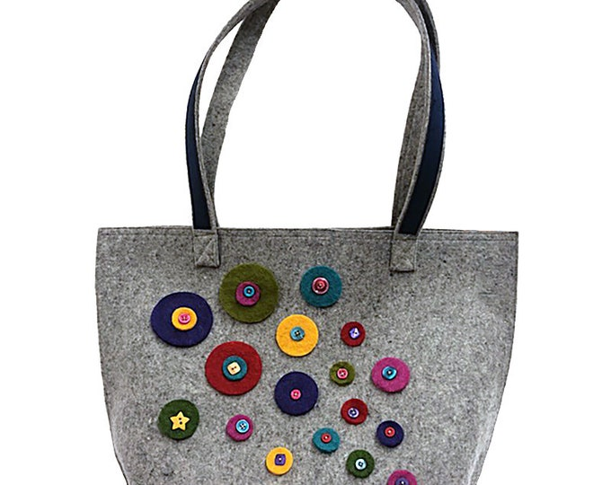 Wooly Felted Wonder Carry All Tote Bag Kit designed by Moda Fabrics