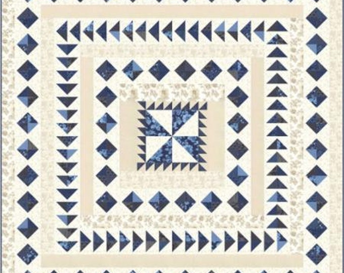 "Regency Blues Quilt Kit designed by Christopher Wilson-Tate for Moda Fabrics, finished size is 78"" x 78"""