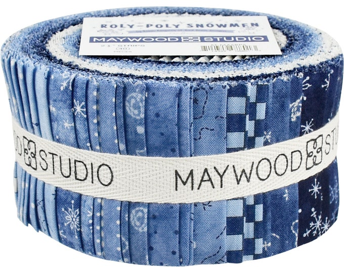 Roly Poly Snowman Jelly Roll (42 - 2 1/2 x WOF Strips) designed by Robin Kingsley for Maywood Studio
