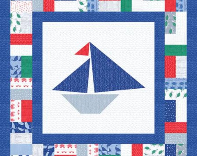 "Ahoy Set Sail Quilt Project designed Gingiber for Moda Fabrics, 36"" x 36"" when finished"