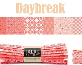 """Color Cuts Daybreak 24 10"""" Squares by Moda Fabrics and designed by Bonnie & Camille, Lella Boutique and Stacey Iest Hsu"""
