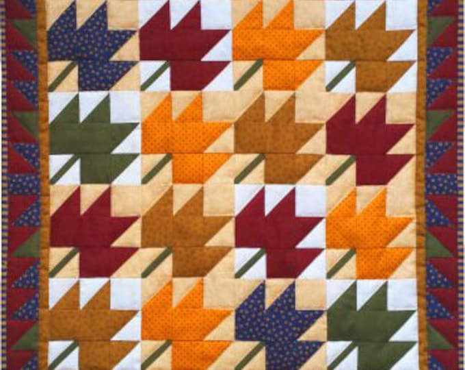 """Leaves Wallhanging Quilt Kit, finished size approx., 22"""" x 22"""" when finished"""