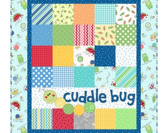 Lil' Sprout Blue Flannel Quilt Kit designed by Kim Christopherson for Maywood Studio,