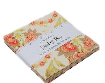"Hazel and Plum Charm Packs (42 - 5"" x 5"" squares) designed by Fig Tree Co. for Moda Fabrics, 100% Premium Cotton"