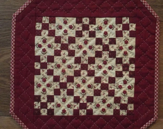 """Little Red Fifteen designed by Red Button Quilt Co., 11"""" x 11"""" finished size"""