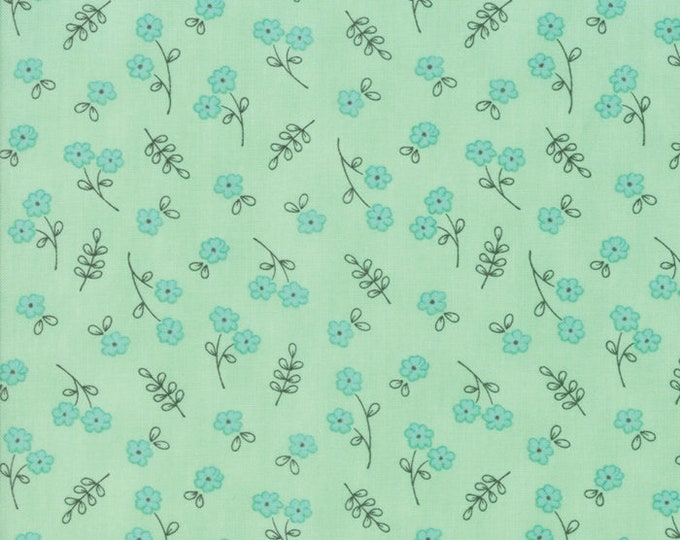 Le Pavot Small Rain designed by Sandy Gervais for Moda Fabrics, 100% Premium Cotton by the Yard