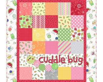 """Lil's Sprout Pink Flannel Quilt Kit designed by Kim Christopherson for Maywood Studio, finished size is 31"""" x 35"""""""