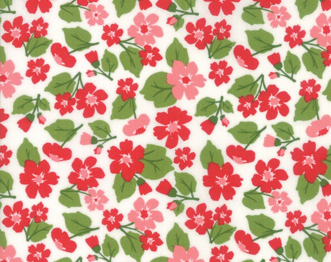 All Weather Friend Small Apple Red designed by April Rosenthal of Prairie Grass Patterns for Moda Fabrics, 100% Premium Cotton by the Yard