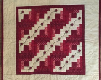 """Little Red Thirteen Pattern designed by Red Button Quilt Co., 18"""" x 18"""" when finished"""