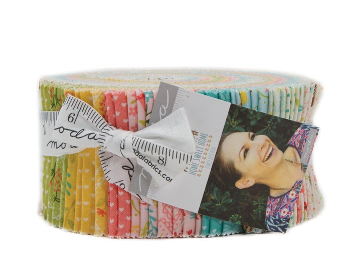 Home Sweet Home Jelly Roll (42 - 2 1/2 strips x WOF) designed by Stacy Iest Hsu for Moda Fabrics, 100% Premium Cotton