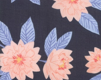 Twilight Floral Midnight designed by One Canoe Two for Moda Fabrics, 100% Premium Cotton by the Yard
