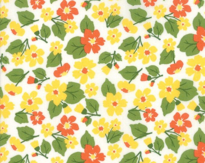 All Weather Friend Small Sunshine designed by April Rosenthal of Prairie Grass Patterns for Moda Fabrics, 100% Premium Cotton by the Yard