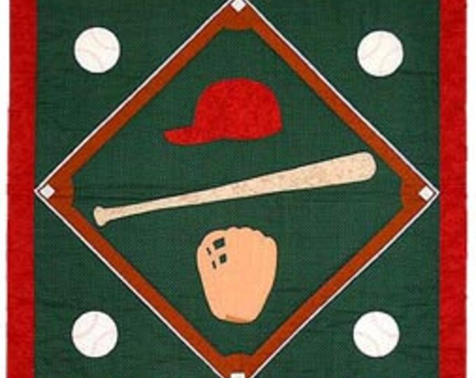 Baseball Twin, Crib or Wall Quilt Pattern, designed by Spring Creek NeedleArt