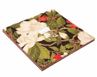 "Magnolia Metallics Layer Cake (42 - 10"" x 10"" Squares) designed by Moda Fabrics"