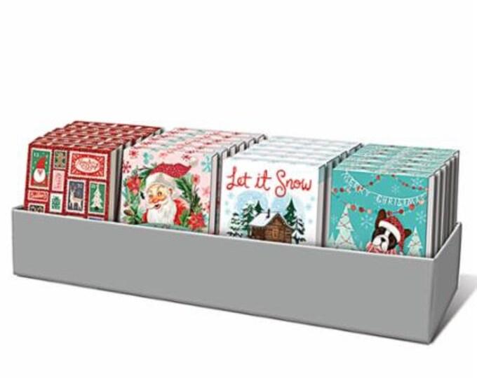 """Christmas Pocket Notepad, 3"""" x 4"""" notepads, 4 designs. 75 sheets per pad"""