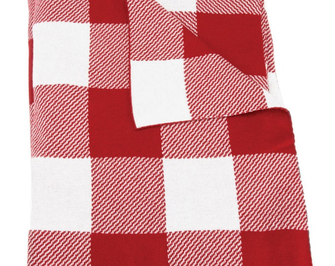 Overnight Delivery Red Cr Throw designed by Moda Fabrics, 100% Cotton