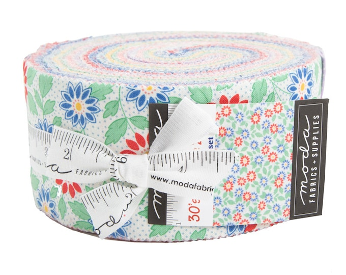 30's Playtime Jelly Roll (42 - 2 1/2 x WOF Strips) designed by Chloe's Closet for Moda Fabrics