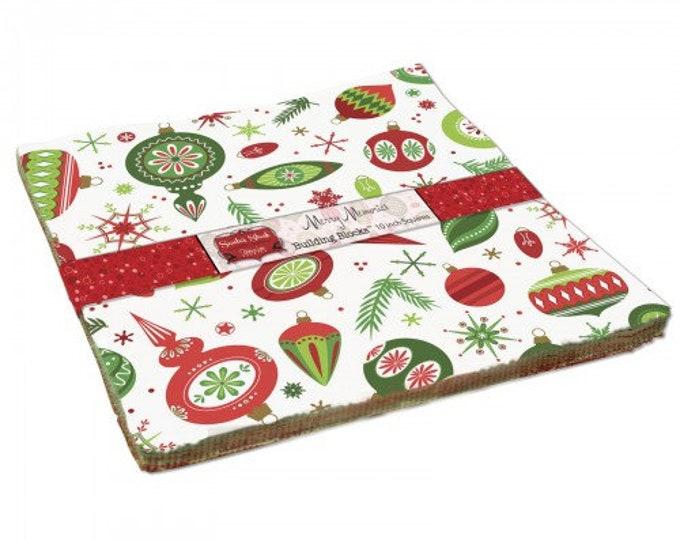 "Santa's Stash Charm Packs (42 5"" x 5"" squares) designed by Patrick Lose Designs"