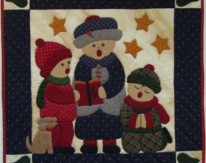 """Carolers Wallhanging Quilt Kit, finished size approx., 22"""" x 22"""""""