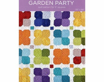 """Garden Party Quilt Pattern for 5"""" Squares designed by Missouri Star Quilt Co., 55"""" x 66"""" finished size"""