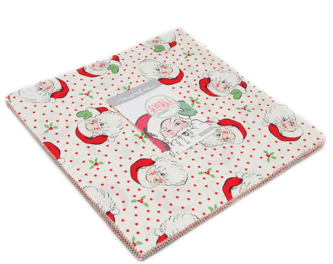 """Swell Christmas Layer Cake (42 - 10"""" x 10"""" squares) designed by Urban Chiks for Moda Fabrics, 100% Premium Cotton"""