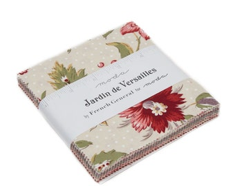 """Jardin de Versailles Charm Pack (42 - 5"""" x 5"""" squares) designed by French General for Moda Fabrics"""
