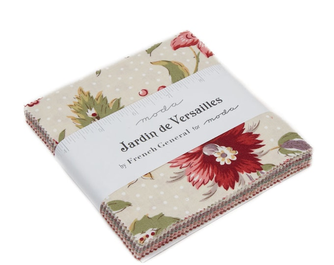 "Jardin de Versailles Charm Pack (42 - 5"" x 5"" squares) designed by French General for Moda Fabrics"